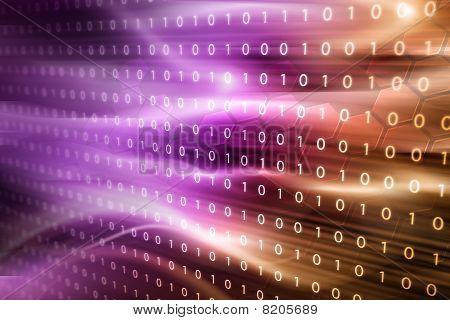 Binary Code Pink Gold