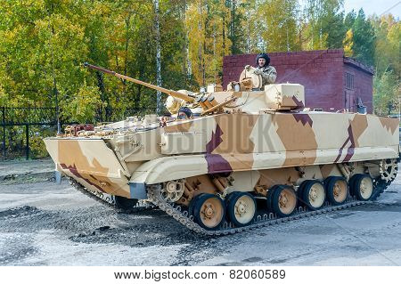 Combat reconnaissance vehicle BRM-3K in motion