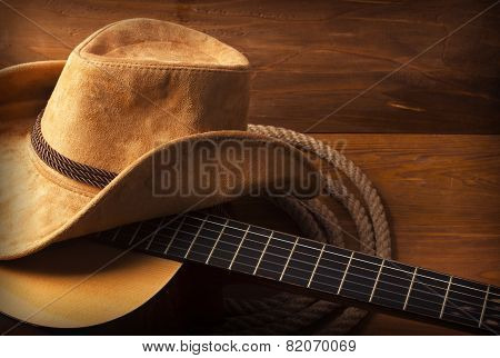 Country Music Background With Guitar