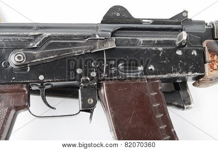 Kalashnikov Rifle. First Safety Lever Position.