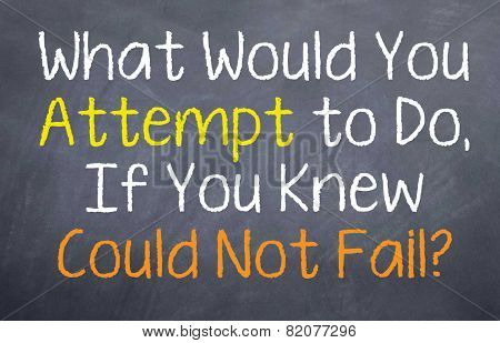 If you could not fail