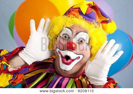 Clown Makes Funny Face