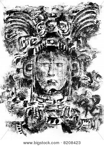 Mayan God Drawing