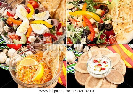 summer salad and dressing