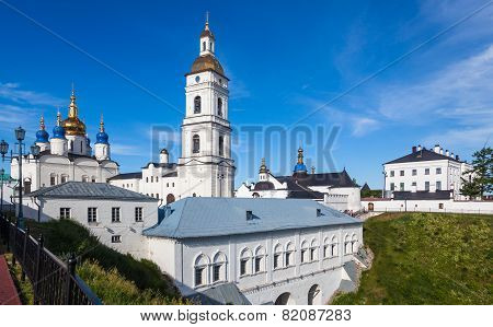 Tobolsk historical Kremlin and Sofia-Uspensky Cathedral Russia.