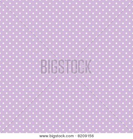 Seamless Polka Dot Pattern, Pastel Lavender