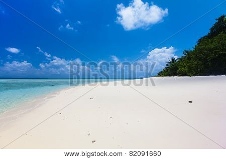 Beautiful Tropical white Sand Beach and crystal clear water. Sipadan Island Borneo Malaysia.