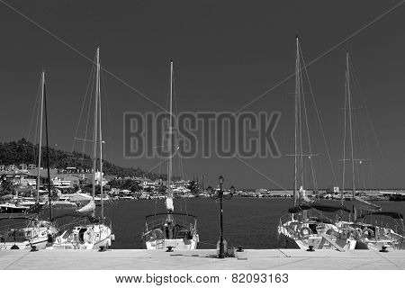Yachts At Anchor