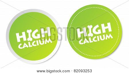 High calcium stickers