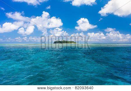 Turquoise Ocean Water And Idyllic Tropical Island Of Sipadan In Sabah, Malaysia.