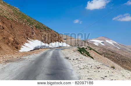Mountain pass from Beqaa (Bekaa) Valley to Qadisha Lebanon