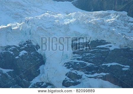Glacier Nearby Grindelwald In Alps In Switzerland