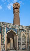 Mir-i Arab Madrasah Mosque Kalon and Kalyan minaret Historic centre of Bukhara Uzbekistan (UNESCO World Heritage) poster