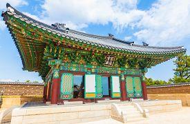 Korean Buddhist Temple complex (Naksansa) in Sokcho, South Korea