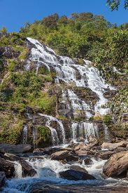 Mae Ya waterfall is tourist attraction and one of the most beautiful waterfall in Chiang Mai Thailan