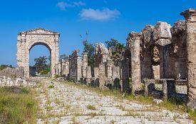 Ruins of ancient Roman Triumphal Arch Tyre Lebanon