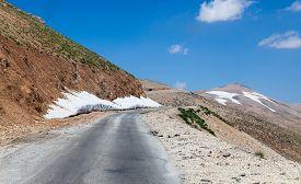 Mountain pass from Beqaa (Bekaa) Valley to Qadisha Lebanon