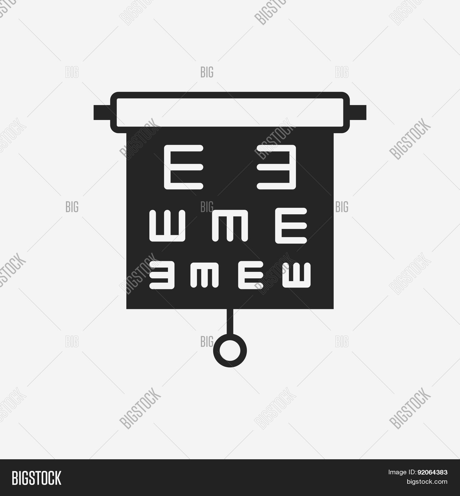 Eye Chart Icon Vector Photo Free Trial Bigstock