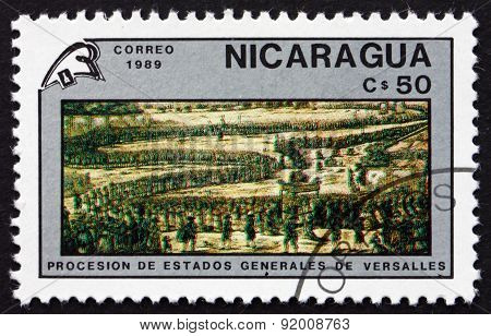 Postage Stamp Nicaragua 1989 Procession Of The Estates General,