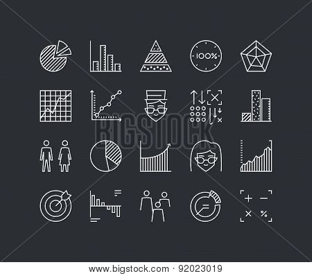 Infographic Elements Line Icons Set