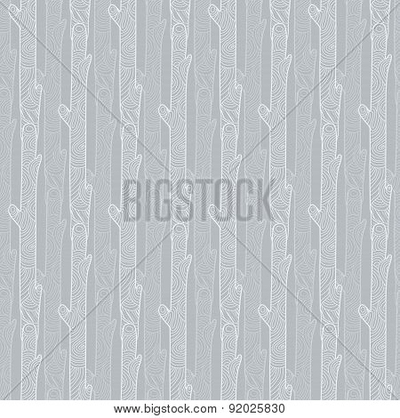 Vectror grey wood logs texture seamless pattern