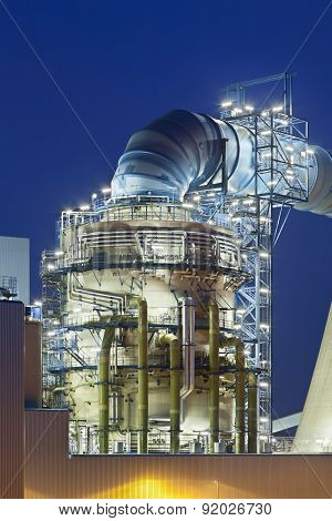Flue-gas Desulfurization Plant At Night