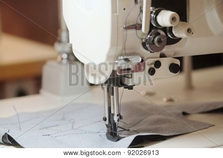 Part of an industrial sewing machine