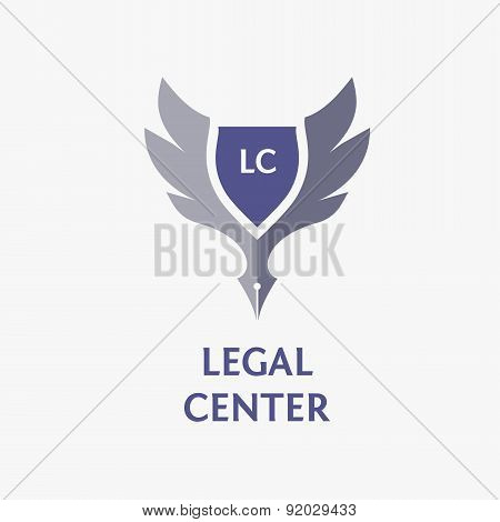 Template vector logo for legal, notary organization. poster