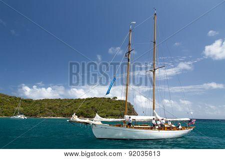Classic Yacht In Freeman's Bay