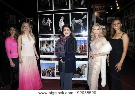 LOS ANGELES - MAY 27: Lindsay Hartley, Crystal Hunt, Donelle Dadigan, Donna Mills, Chrystee Pharris at the Marilyn Monroe Missing Moments at the Hollywood Museum on May 27, 2015 in Los Angeles, CA