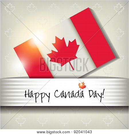 Happy Canada Day Card Or Ackground. July 1.