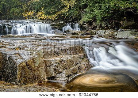 New Hampshire Stream and Waterfall