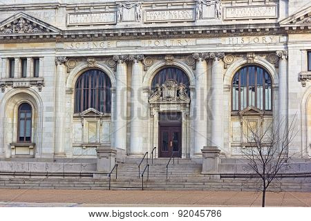 The Carnegie Library at Mt. Vernon Square in Washington DC.