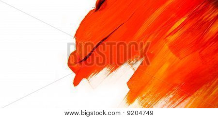 Red and Orange Paint Texture