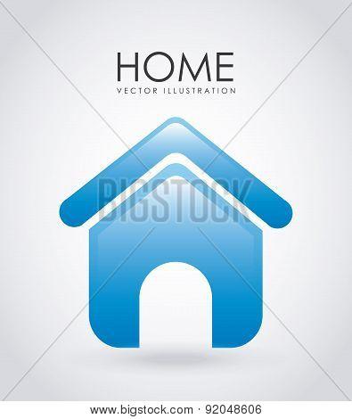 House design over gray background vector illustration