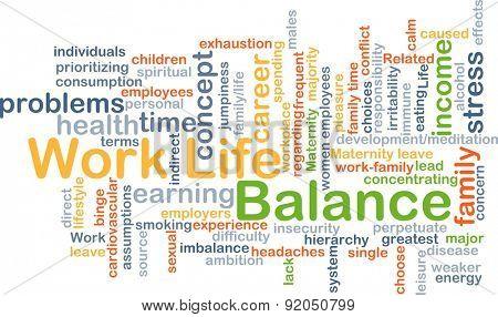 Background concept wordcloud illustration of work-life balance