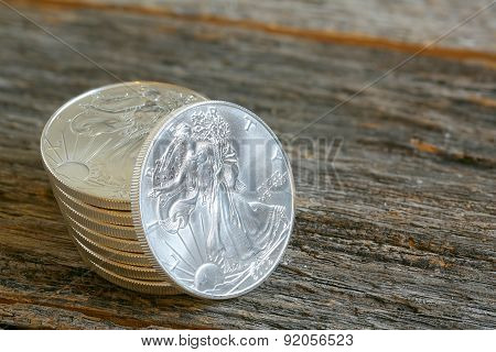 Walking Libery Silver Coins