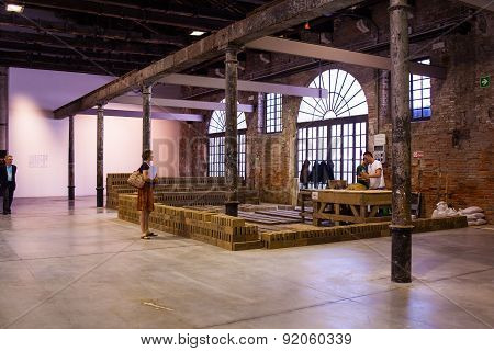 Rirkrit Tiravanija Installation, Arsenale. 56Th Venice Biennale