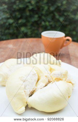 Delicious Fresh Ripe Thai Durian.