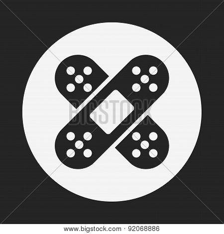 Bandage Icon, illustration vector eps , black and line icon poster