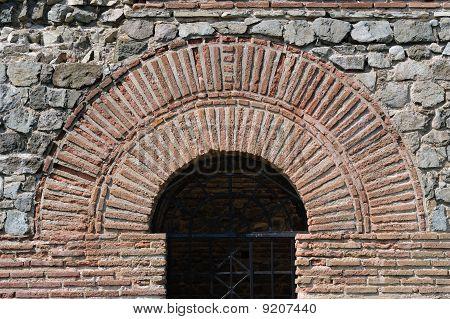 Roman arch Felix Romuliana near city of Zajecar in Eastern Serbia poster