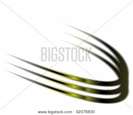 Dynamic green abstract motion on white background