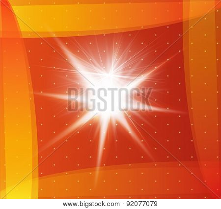 Explosion on a orange background abstract