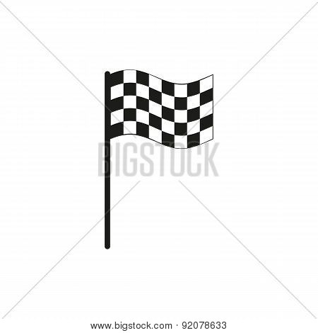 The Checkered Flag Icon. Finish Symbol. Flat