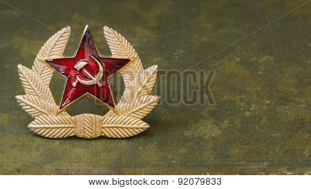 Russian Red Star With Hammer And Sickle