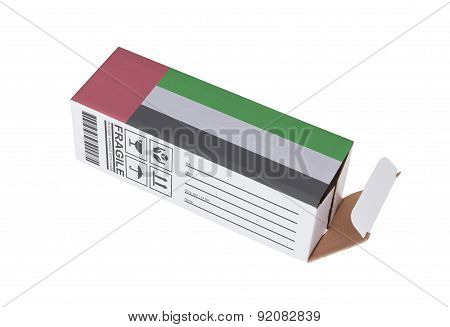 Concept Of Export - Product Of The United Arab Emirates
