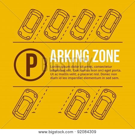 Vector parking lot illustration