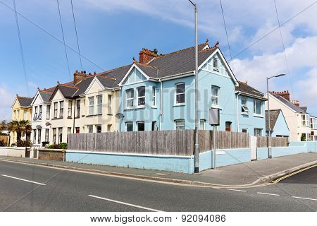 English street of terraced houses
