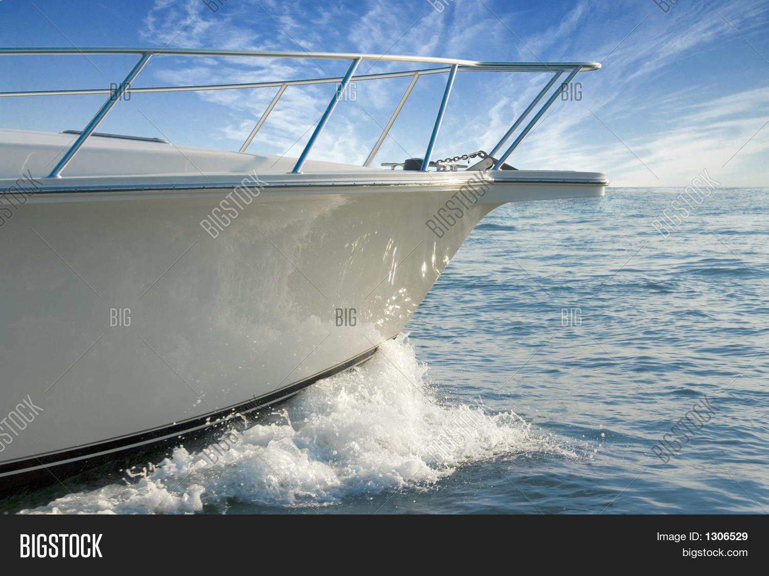 Bow Of A Boat >> Power Boat Bow Wake Image Photo Free Trial Bigstock