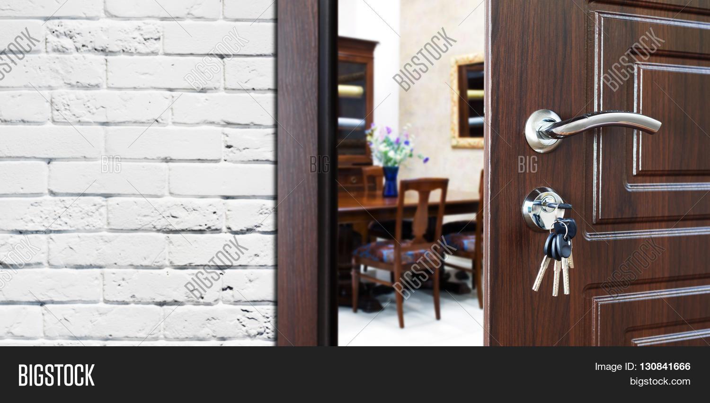 interior office door. Half Opened Door To A Cabinet Or Office. Handle, Lock. Lounge Interior Office